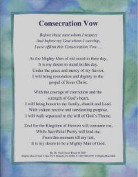 407 Consecration Vow
